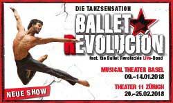 09.01.–25.02. Ballet Revolución (Cuba), BASEL y ZURICH